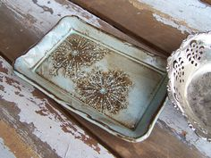 Queen Anne Lace Rustic Clay Plate.