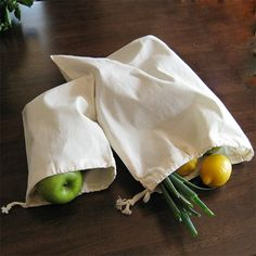 reuseit Produce & Snack Bag, Organic Cotton Muslin