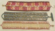 PATTERN Tila Half with bugle beads cuff style 3 patterns in