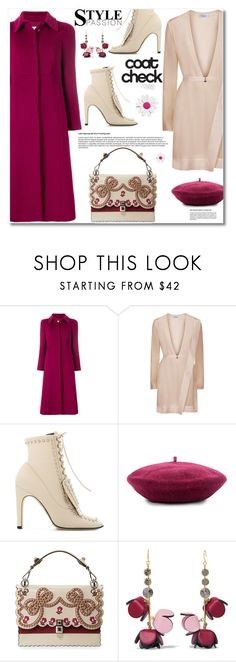 """Statement Coats"" by ucetmal-1 on Polyvore featuring RED Valentino, La Perla, Sergio Rossi, Brixton, Marni and statementcoats"