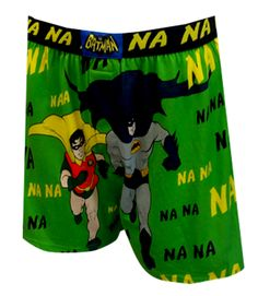Classic TV Batman and Robin Na Na Na Na Boxers with Cape Nothing calls to mind the classic Batman TV series from the '70s like ...