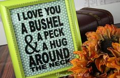 I Love You A Bushel and A Peck... Vinyl  52% off at Groopdealz