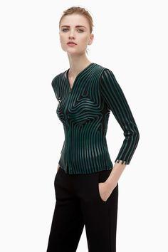 Chaqueta entallada con tiras aplicadas - chaquetas y chalecos | Adolfo Dominguez shop online