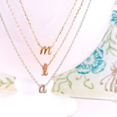 Lower case Initial NecklaceLetter Necklace Alphabet Necklace Gold Pendants NecklacePersonalized Graduation Gift for Her Bridesmaid Gift Rose Gold Initial Necklace, Initial Jewelry, Gold Pendant Necklace, Gold Pendants, Initial Necklaces, Alphabet Necklace, Letter Necklace, Diy Game, Personalized Mother's Day Gifts
