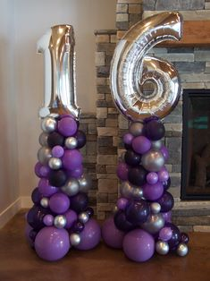 Birthday Celebration in shades of purple! Party Rentals PJs Rentals Rental Images Party Equipment Event Rentals Balloon Delivery Balloon Decor Balloon Arches Balloon Columns Balloon Centerpieces Birthday Celebration in shades of purple! 16 Balloons, Purple Balloons, Birthday Balloons, Rainbow Balloons, Sweet 16 Party Decorations, 16th Birthday Decorations, Balloon Decorations Party, Balloon Columns, Balloon Garland