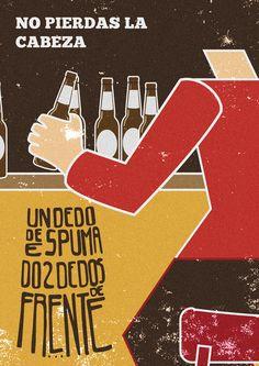 Ilustración para concurso #Cervecear #UnDedoDeEspumaDosDedosDeFrente