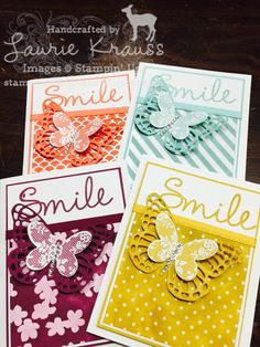 Deerland stamping, SAB goodies, butterfly framelits, Stampin up, Laurie Krauss