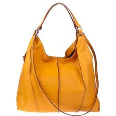 d1bc532cf679 Amazon.com  ASIA BELLUCCI Italian Made Orange Leather Shoulder Hobo Bag   Shoes