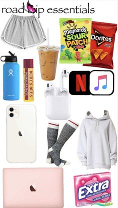 Road trip essentials  <br> Travel Bag Essentials, Road Trip Essentials, Road Trip Hacks, Teen Fashion Outfits, Swag Outfits, Girl Outfits, Cute Comfy Outfits, Just Girl Things, Teenager Outfits