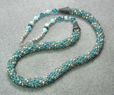 Beaded kumihimo anyone?  This was my first real project with this technique -- hope you like it!