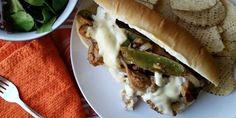 Vegan Philly cheesesteak made with sautéed seitan, peppers, and gooey vegan cheese! #Yum #Vegan #Cheesesteak #recipe