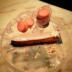 Mother's Day eclair . Rose raspberry flavour. #sweet #pastry #pink # eclair
