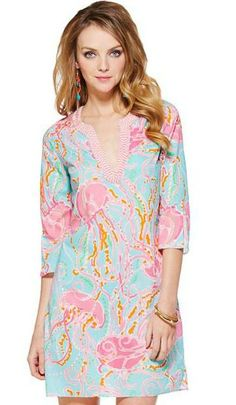 The Courtney Tunic with the Jellies Be Jammin print