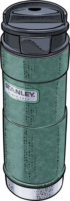 Stanley Classic One-Hand Hot Beverage Thermos Stanley Cooler, Stanley Thermos, Vacuum Flask, Beverage, Lunch Box, Sketch, Branding, Camping, Classic