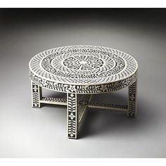 Butler Cassandra Bone Inlay Cocktail Table - Black
