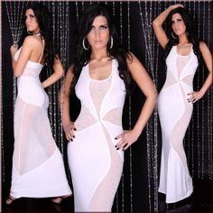 Transparan Uzun Elbise