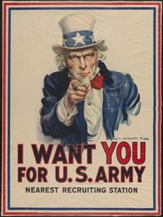 James Montgomery Flagg, <em>I Want You for U.S. Army</em> (circa 1917). Courtesy of the Museum of the City of New York, gift of John W. Campbell.