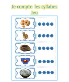 Je compte les syllabes Phonological Awareness, Projects To Try, Education, Conscience, Plans, Cycle 1, Ms Gs, Madame, Voici