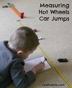 This activity focuses on measuring Hot Wheels jumps and recording them.