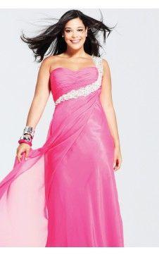 Belle robe de bal Colonne Mousseline Seule épaule Longueur ras du sol