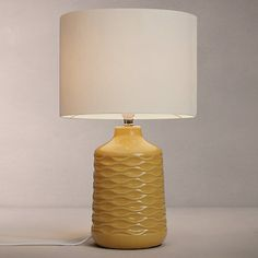 Buy Saffron John Lewis & Partners Annie Table Lamp from our Desk & Table Lamps range at John Lewis & Partners. Grey Table Lamps, Ceramic Table Lamps, Bedside Lamps Yellow, Living Room Decor Colors, Living Room Lighting, Living Room Orange, My Living Room, Living Area, John Lewis Lamps