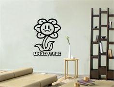 Vinyl Wall Art Decal Sticker: Flowey Undertale
