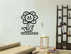 Vinyl Wall Art Decal Sticker: Flowey Undertale