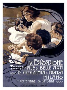 IV Esposizione Triennale di Belle Arti, Milano by Adolfo Hohenstein  // vintage opera poster