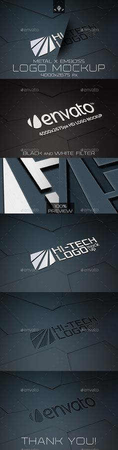 HiTech Metal and Emboss Logo Mockup — Photoshop PSD #rock #hd • Available here → https://graphicriver.net/item/hitech-metal-and-emboss-logo-mockup/16615174?ref=pxcr