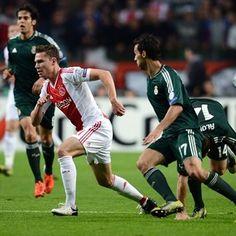 Derk Boerrigter, Ajax & Arbeloa, Real Madrid. | Ajax 1-4 Real Madrid. 03.10.12.