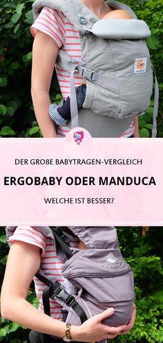 Ergobaby oder Manduca? Erfahre im große Babytragen Vergleich, welche Babytrage besser zu Dir und Deinem Baby passt: Ergobaby Adapt oder Manduca Frist #babytrage #ergobaby #manduca