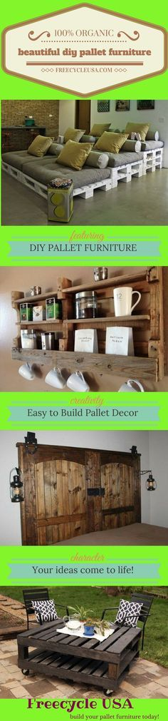 Beautiful DIY Pallet Projects. Your Weekend Just Got Awesome. Love working with pallet wood, but hate complicated tutorials? We Hear You! In the past when you thought of a pallet you thought of bulk shipping and warehouses that would be responsible for moving product from one location to another. Most people didn't own their own pallets, …