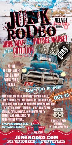 JUNK RODEO - This IS our first RODEO... - http://velvetchandelier.com/junk-rodeo-this-is-our-first-rodeo/