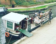 A bookshop on a boat?! Yes please!! @word_on_the_water is a floating bookshop on Regents canal with great books and even a stove and armchair to read in. I go past nearly everyday and it makes my day!  #wordonthewater