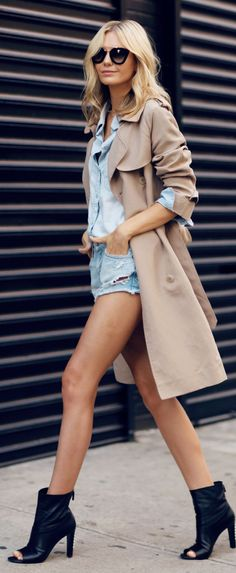 Beige And Blue Casual Chic Street Outfit by Tuula