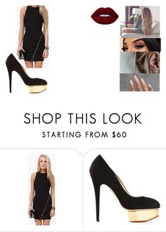 """""""Untitled #605"""" by itsbatman ❤ liked on Polyvore featuring Charlotte Olympia and Lime Crime"""