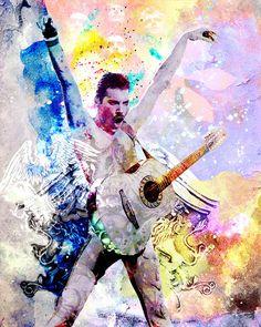 Freddie Mercury Art Print, Queen