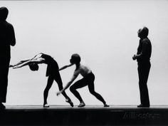 Ballet Master George Balanchine Directing Rehearsal of NYC Ballet Production, Violin Concerto Premium Photographic Print by Gjon Mili at AllPosters.com
