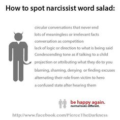 How to spot narcissist word salad