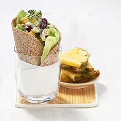 Rezept für Mais-Wrap: Der bis oben mit Gemüse gefüllte Mais-Wrap kann als leichtes Mittagessen oder als Snack genossen werden. Mit Ananas oder Mango serviert, schmeckt er fruchtig und exotisch.
