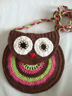 My World...: Owl Purse free pattern and master class .