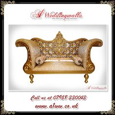 A1 Weddingwalla offer decorative #engagement chair for wedding. For booking call us at 07958 330043. #Royal #Chair #Wedding #AsianWedding #WeddingSofa #Sofa
