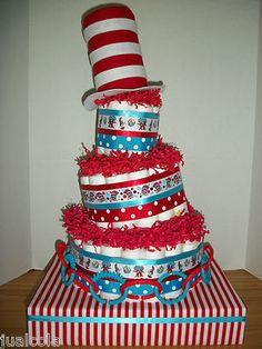 Dr Suess Diaper cake!