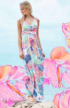 Lilly Pulitzer Sloane V-Neck Maxi Dress Multi Roar of the Seas