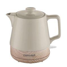 Concept RK0061 keramická rychlovarná konvice 1 l, hnědá Kettle, Concept, Kitchen Appliances, Design, Cords, Diy Kitchen Appliances, Teapot, Home Appliances, Domestic Appliances