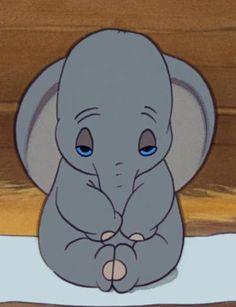 Dumbo before he opens his ears