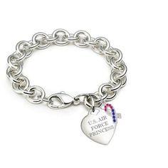 air force girlfriend | Amazon.com: Air Force Girlfriend Bracelet CR: New York 925 & Co ...