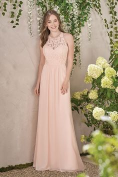 Jasmine Bridesmaids style B193008. Color Dreamsicle. Available at Bridal Collections Spokane, WA