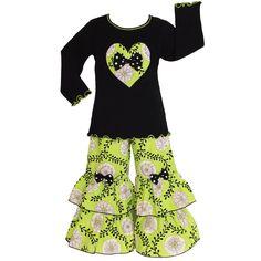 AnnLoren Girls Boutique Flowering Vine Outfit | Overstock.com