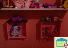 Casa com amor e arte: Gavetas na parede, na minha casa tem!